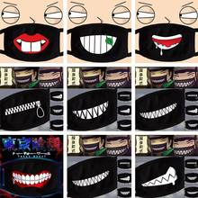 Nan bao6 Women Men Black Anti-Dust Cotton Cute Bear Anime Cartoon Mouth Mask Kpop teeth mouth Fashion Muffle Face Mouth Masks(China)