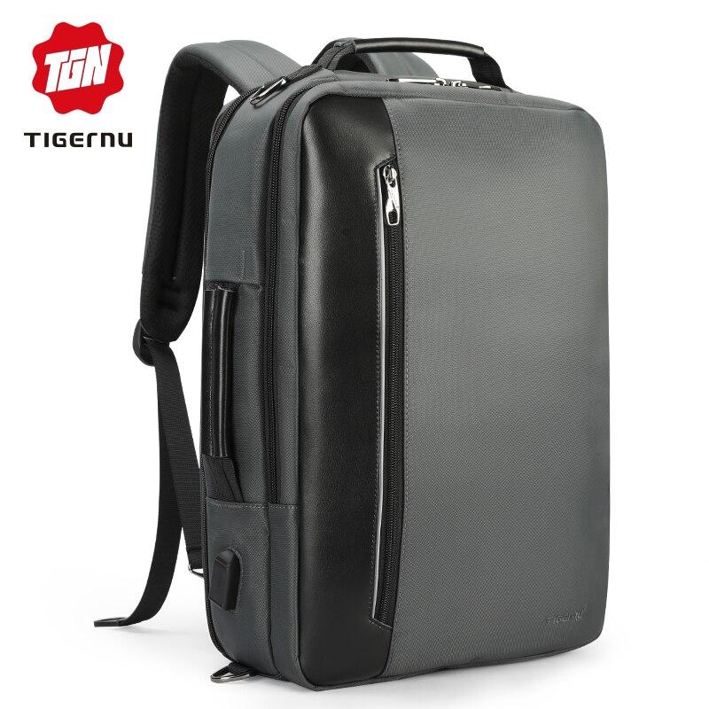 Tigernu marque Nylon étanche sac à dos hommes affaires 15.6