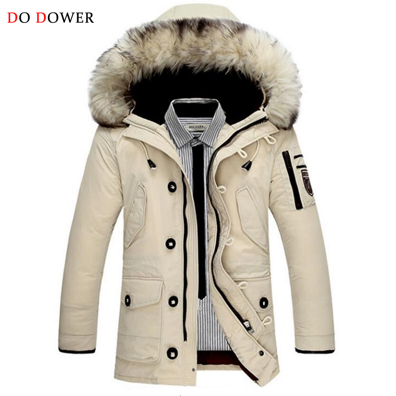 2017 Winter New Arrival Men Fur Collar Coat Brand Luxury Keep Warm Thicken with Hooded Male Down Jacket Padded Cotton Clothing 2015 hot new winter thicken warm woman down jacket coat parkas outerwear hooded fox fur collar luxury long brand plus size 2xxl