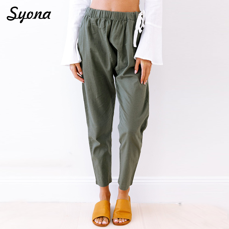 HAREM   PANTS   Female Stretch Pencil   PANTS     Capri   Joggers Women Sweatpants Trackpants Baggy Track Trousers Loose Comfort Palazzo