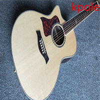 Kpole Classic Left Acoustic Guitar Factory Custom Solid Spruce Top Acoustic Guitar Redwood Back And Side