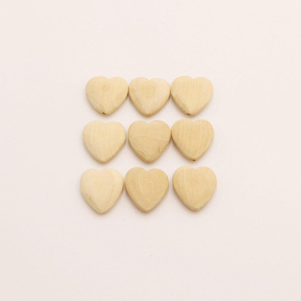 Тыры. HU 10 шт. естественной форме сердца Деревянный Бусины нетоксичных и здоровой Детские Прорезыватель mordedor Игрушечные лошадки ювелирных изделий интимные аксессуары