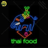 Tajskie jedzenie znak światła NEON Neon znak dekoracji hotelu szkło Tube piwo PUB Pub sklep znak sklep wyświetlacz rzemieślnicze znanych znak światła|Żarówki i oprawy neonowe|Lampy i oświetlenie -