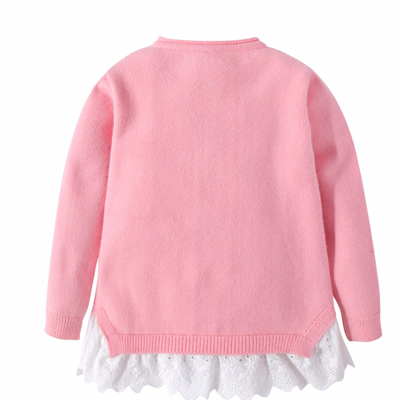 Cotton Girls Sweaters Solid Top With Button Long Sleeve Children Clothes Warm Girl Toddler Cardigan Autumn Winter Kids Sweater (11)