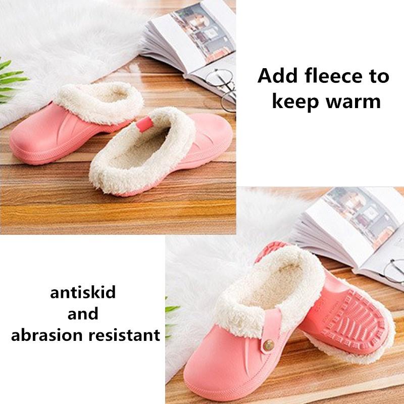 Women/'s House Pantoufles Spa Chaussures Avec Doublure Polaire Confort Coton