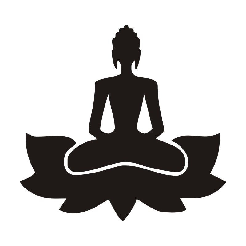 Meditate Yoga Lotus Pose Wall Decals Gym Decor Indian Yoga