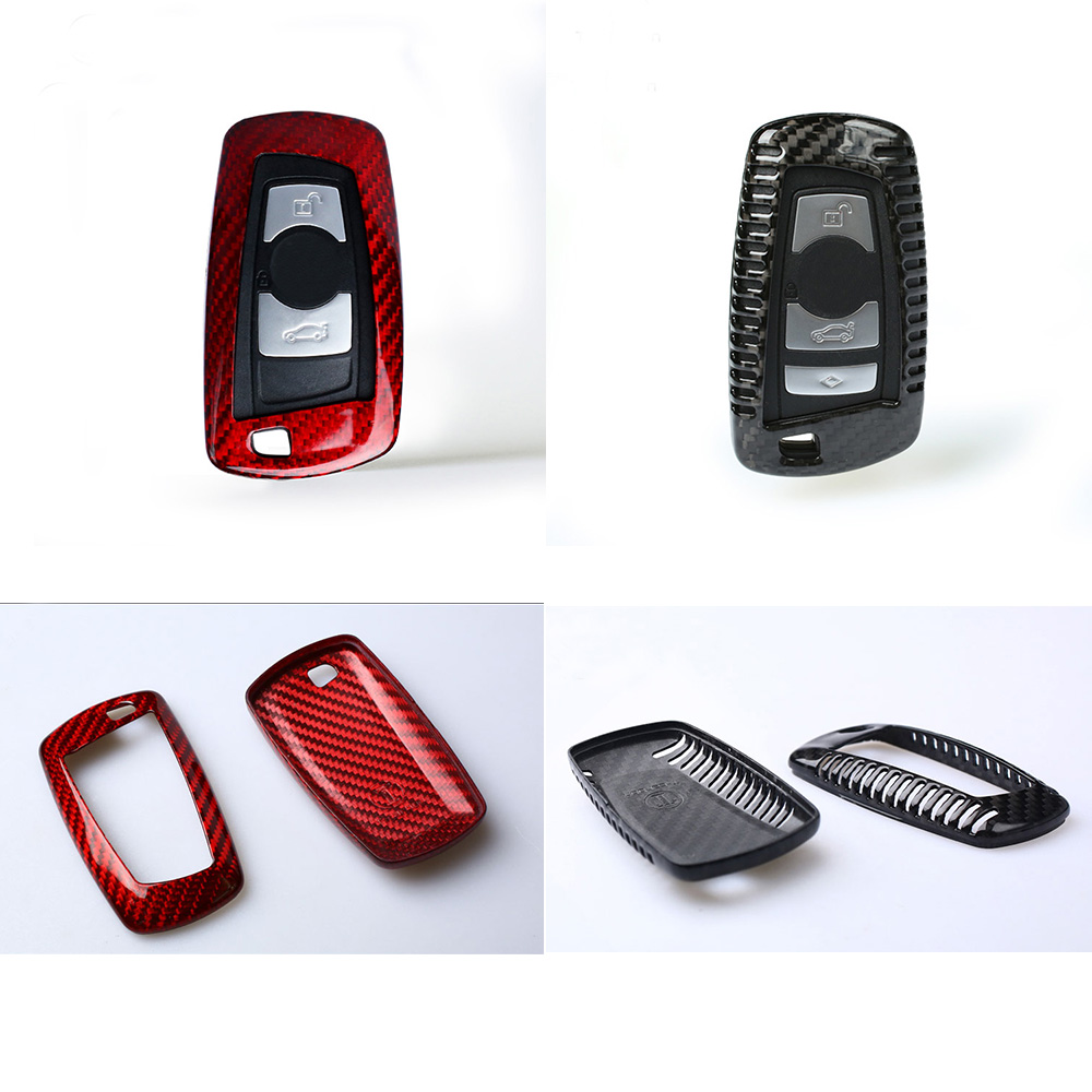 Carbon Fiber Key Fob Case Shell Cover For BMW X3 F25 X4 F26 F1 2 3