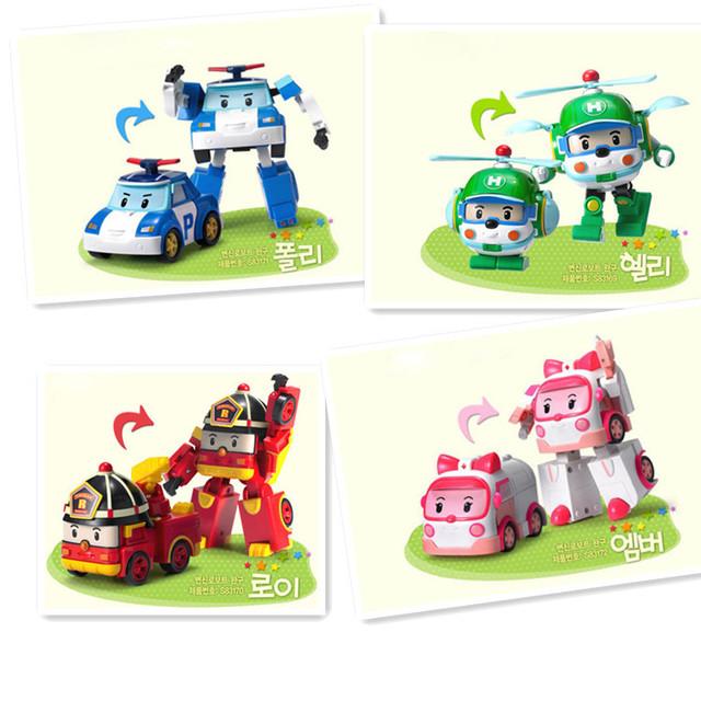 Robocar Transformation Anime Action Figure 4pcs/Set