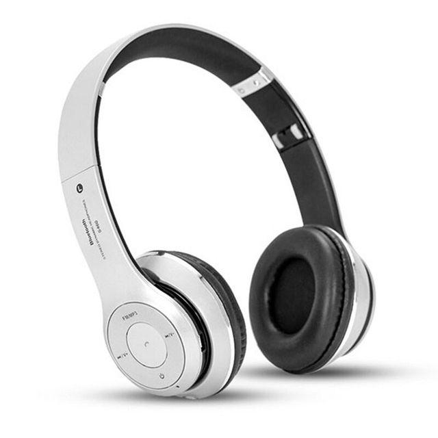 Brand new casque auriculares bluetooth de música estéreo de audio para auriculares plegable tarjeta tf auricular manos libres con micrófono para el teléfono de pc