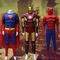 Взрослых хэллоуин косплей костюм капитан америка, Человек - паук, Железный человек, Бэтмен, Супермен, Выступления