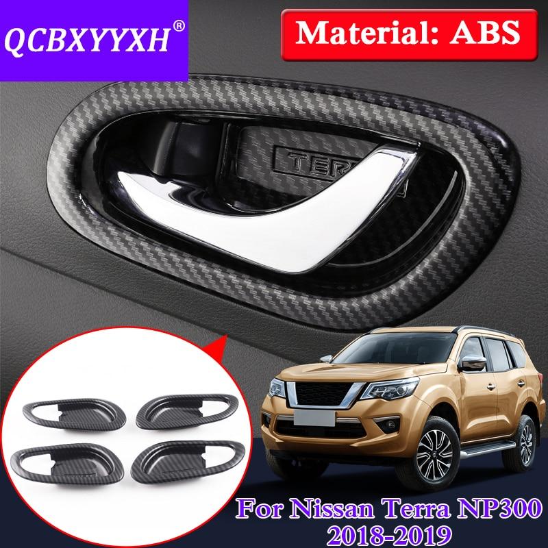 QCBXYYXH ABS Car Styling For Nissan Terra Navara NP300 2018 2019 Auto Inner Door Handle Frame