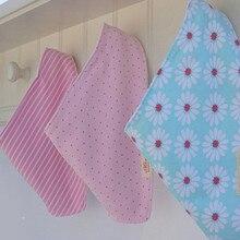 Детские нагрудники 3 шт./лот хлопок бандана нагрудники детская одежда полотенце для девочек банданы одежда для малышей F285ER