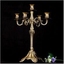 H41cm латунные подсвечники серебряные подсвечники Высокие Канделябры пол свечи винтажных аксессуаров для дома ZT002h41b