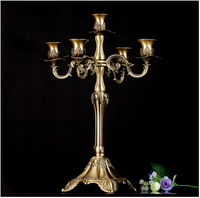 H41cm Bronze Alloy Metal Centerpiece Candelabra Candelabrum Candle Holder Candlestick Home Christmas Wedding Decoration ZT002