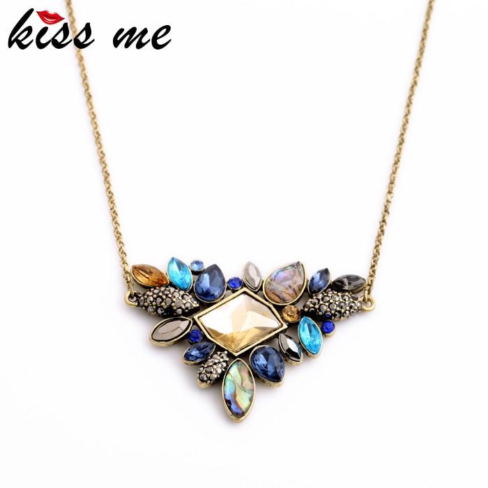 KISS ME Exquisite Rhinestone Pendant Necklaces