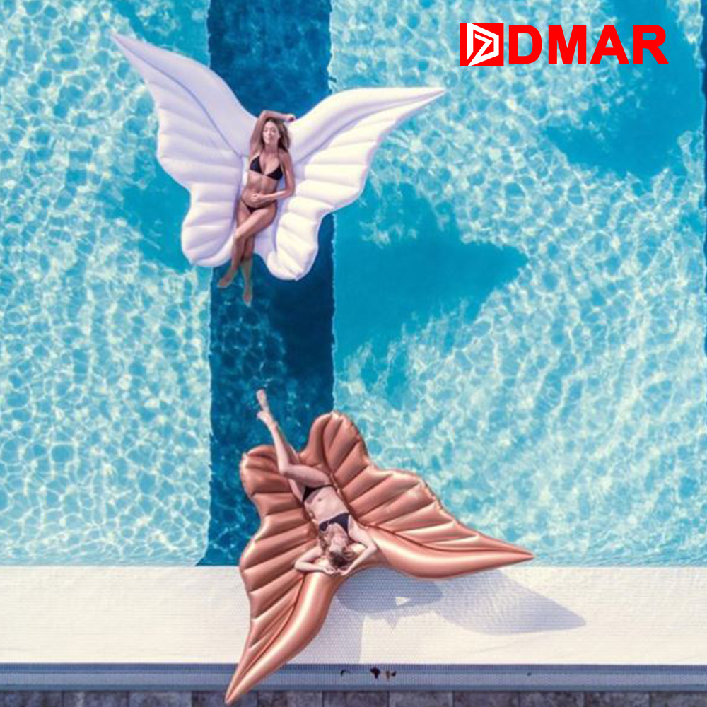 DMAR Inflatable Wings Giant Pool Float 250cm/98 Inflatable Mattress Swimming Ring Swimming Circle Beach Summer Party Toys 1 2m shell swimming float adults giant pool float pearl scallops inflatable funny aquatic toys air mattress swim life buoy