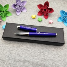 Put your name text free on pen body one side to customized with logo shipping a classical box
