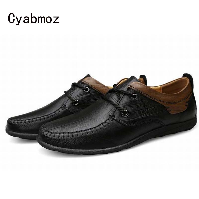 2018 New British Style Men Oxfords Genuine Leather Flats Male Shoes Dress Business Office Shoes Round Toe Vintage Casusl Shoes genuine leather men oxfords shoes lace up casual shoes low top dress shoes british style male shoes flats moccasines xk052311