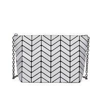 2018 High Quality Geometric Handbags Plaid Chain Shoulder Crossbody Bags Laser BaoBao Diamond Bag Famous Brand