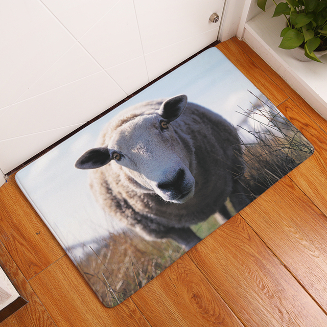 non slip kitchen rugs 2017 new sheep and cows print carpets nonslip kitchen rugs for home living room non slip