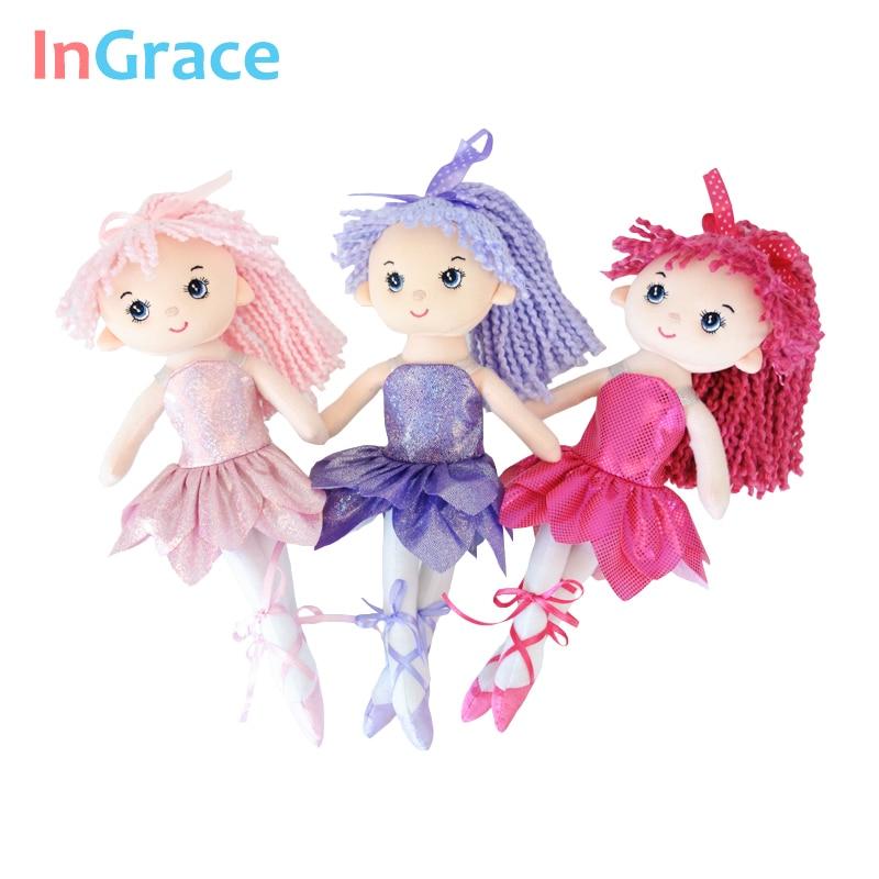 InGrace нови искрящи балерини кукли 3 цвята супер красива малка балерина кукла реалистични принцеса момиче кукли