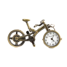 Unisex Retro Bronze Alloy Bicycle Pocket Watch Keychain LXH