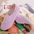 E-LOV Diseños Especiales DQ15 Pintados a Mano Zapatos de Lona Personalizada Mujeres Hombres Adultos Zapatos Lindos Zapatos De Plataforma Casuales