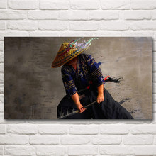 Japanese Samurai Anime Art Silk Poster