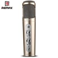 Remax k02 dc 5 v microfone de cancelamento de ruído cantando ferramenta adequada para ktv reunião suporte ios android smartphone e computador