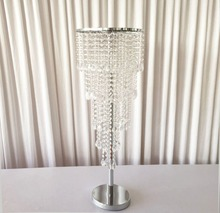 10 Pieces/lot table centerpiece stand with Crystal Beads  for Table Decoration Wedding