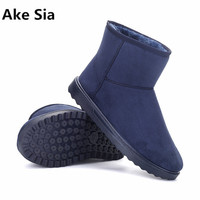 Ake Sia 2017 Unisex Winter Snow Boots Brand Ankle Rubber Boots Fashion Men Winter Shoes Cheap