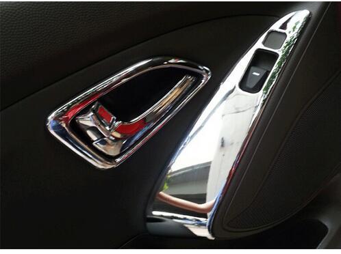 Car Auto Accessories Interior Trim Inner Molding Decoration Trim For Hyundai Tucson IX35 2010 2011 2012 Abs Chrome 13pcs