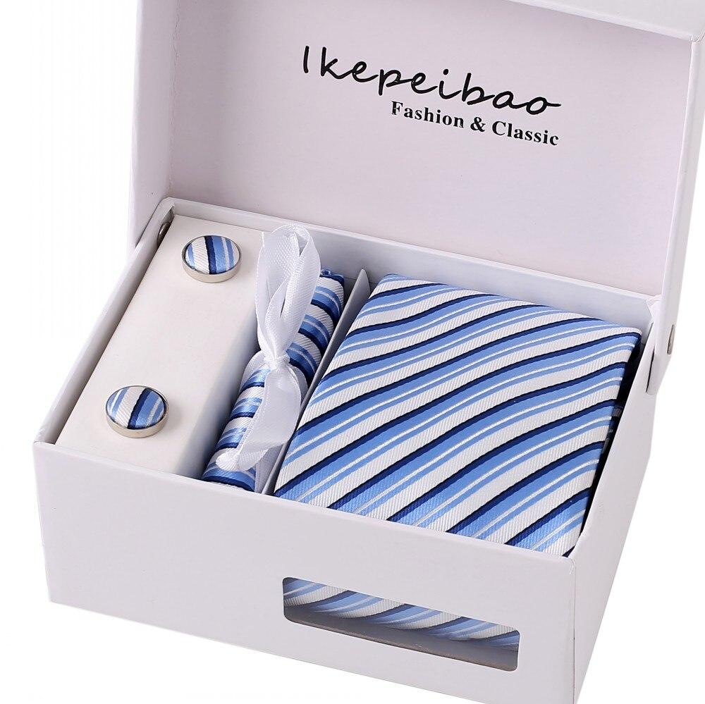 ᗗIkepeibao Для мужчин синий <b>полосатый</b> Галстуки широкие ...