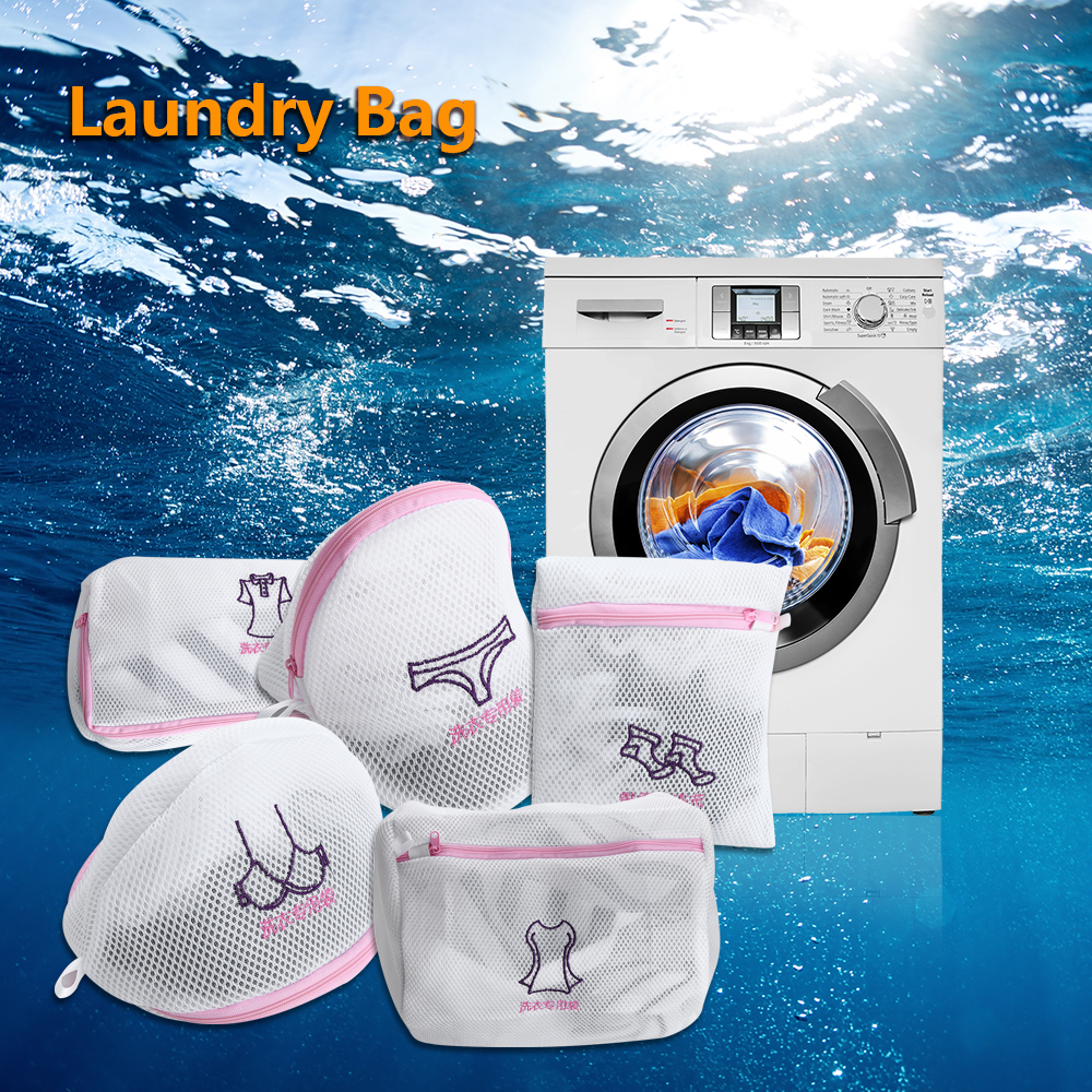 Laundry-Bag Basket Washing-Machines Protector Underwear Bra Mesh Zippered 1pc for Thickened