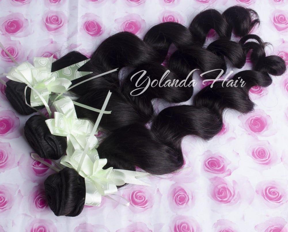 5 Pieces Yolanda Hair Products Virgin Brazilian Hair Loose Wave Hair