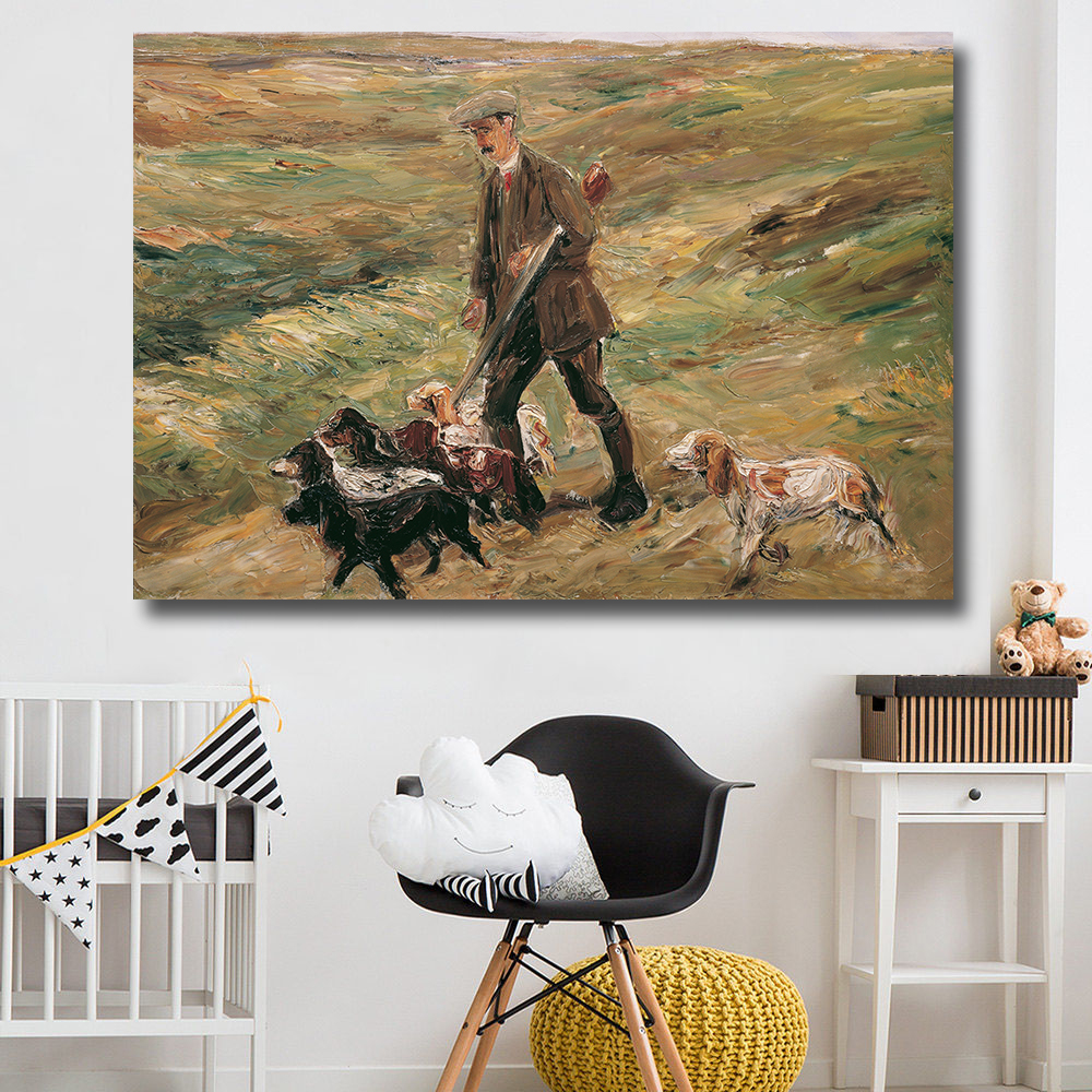 hdartisan wall art home decor hunter hunting with dogs oil painting on canvas wall painting picture - Artisan Home Decor