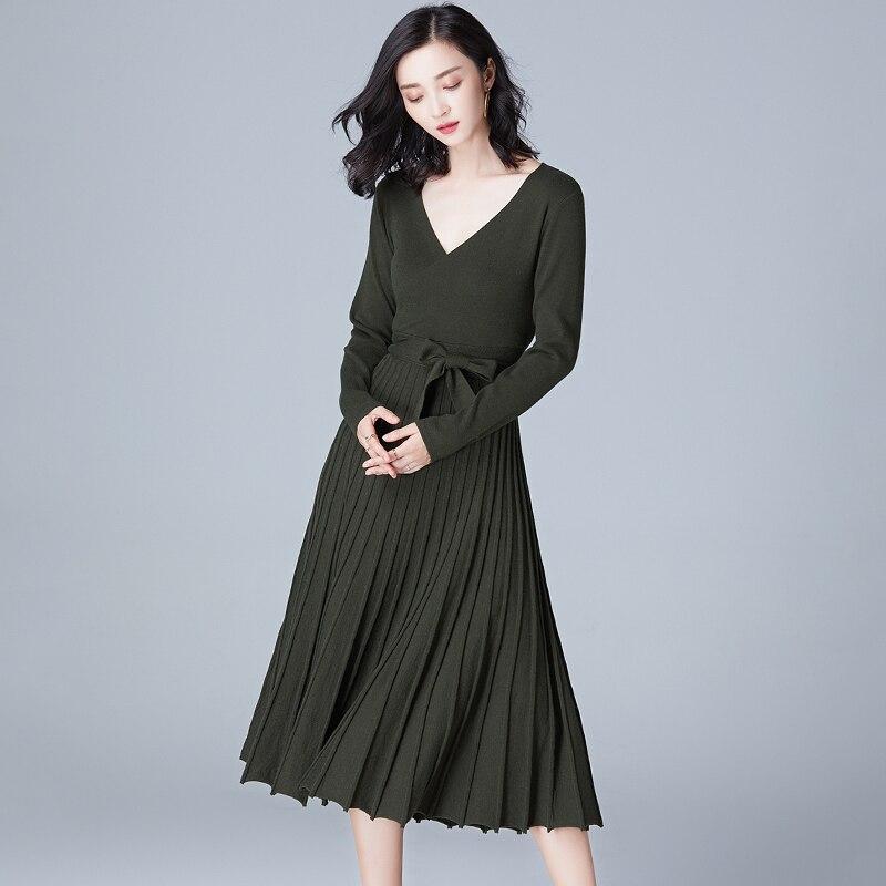 Maglioni Abbigliamento Abiti A Con Vintage Di blu verde New Navy Pieghe  Cintura Dell esercito V Donna ... 7e71fee5789
