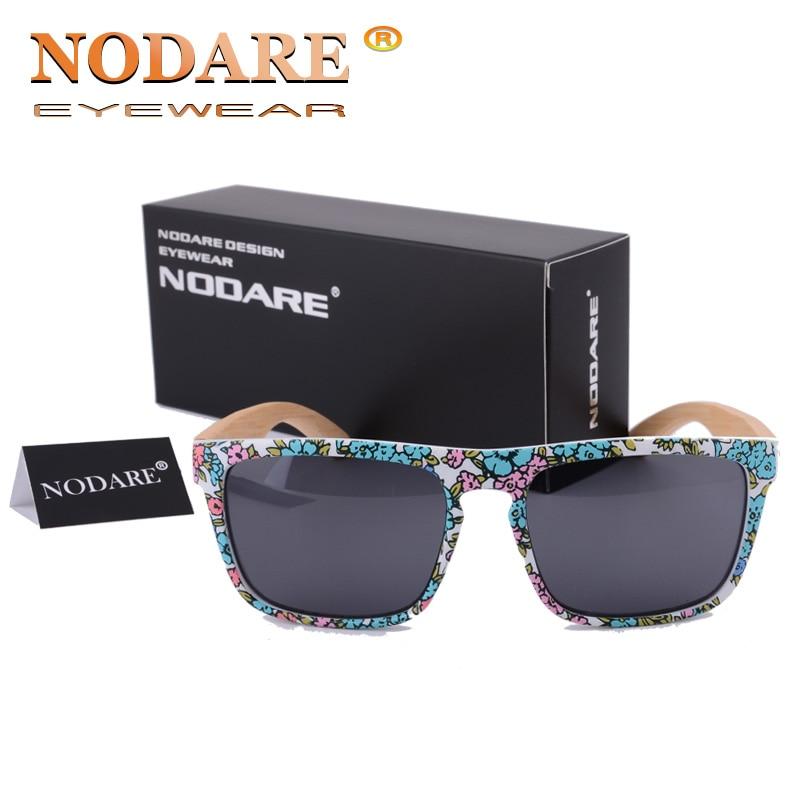 NODARE New Bamboo Sunglasses Wood 6 Colors Wayfareingly Sun Glasses Classic Retro Rivet Shades Eyewear Top Quality Rays UV400