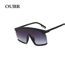 OUBR Trend Fashion Big Frame Sunglasses Brand Design Water S