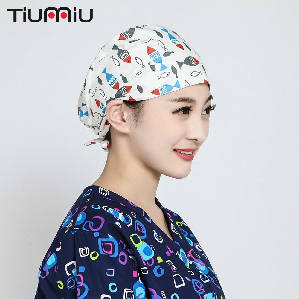 On Sale Medical Surgical Scrub Caps Anesthetist Hospital Pet Doctor Nurse Dentist Beauty Salon Surgical Surgeon's Surgery Hat