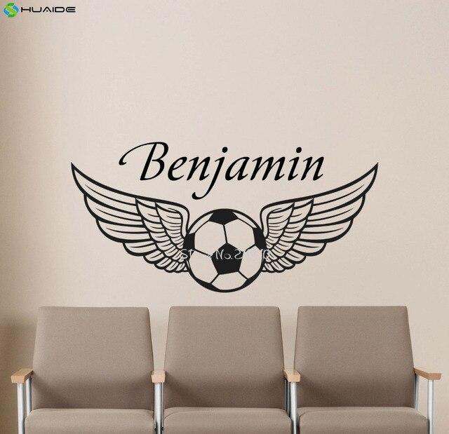 personalized boys name football wall sticker removable vinyl custom