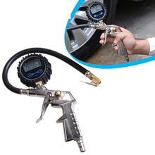 Car digital tire pressure gauge Infi ating gun Professoional air tool gowi грабли gowi 36 см