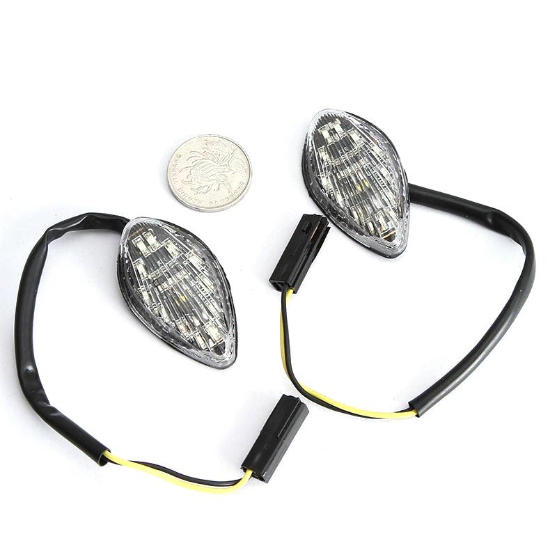 Partol 12V Motorcycle Turn Signals Lights Flush Mount