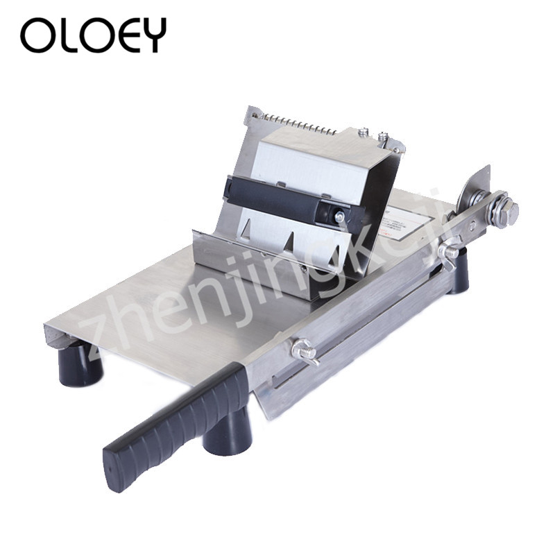 Manual Slicer Stainless Steel Food Slicer Beef Roll Machine Multifunction Cut Meat Hard Vegetables Adjustable Slice Thickness