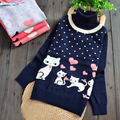 girl child sweater knitted cartoon long sleeved baby clothes
