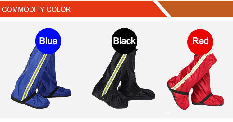 Retail en groothandel Schoenen Cover Non Slip Laarzen Met Reflectoren Herbruikbare Regenhoes Voor Schoenen Waterdichte Motorfiets Schoenen Covers