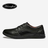 Size 36 47 Full Grain Leather Men Casual Shoes Hecrafted Fashion Comfortable 2018 Men Shoes FJ8803
