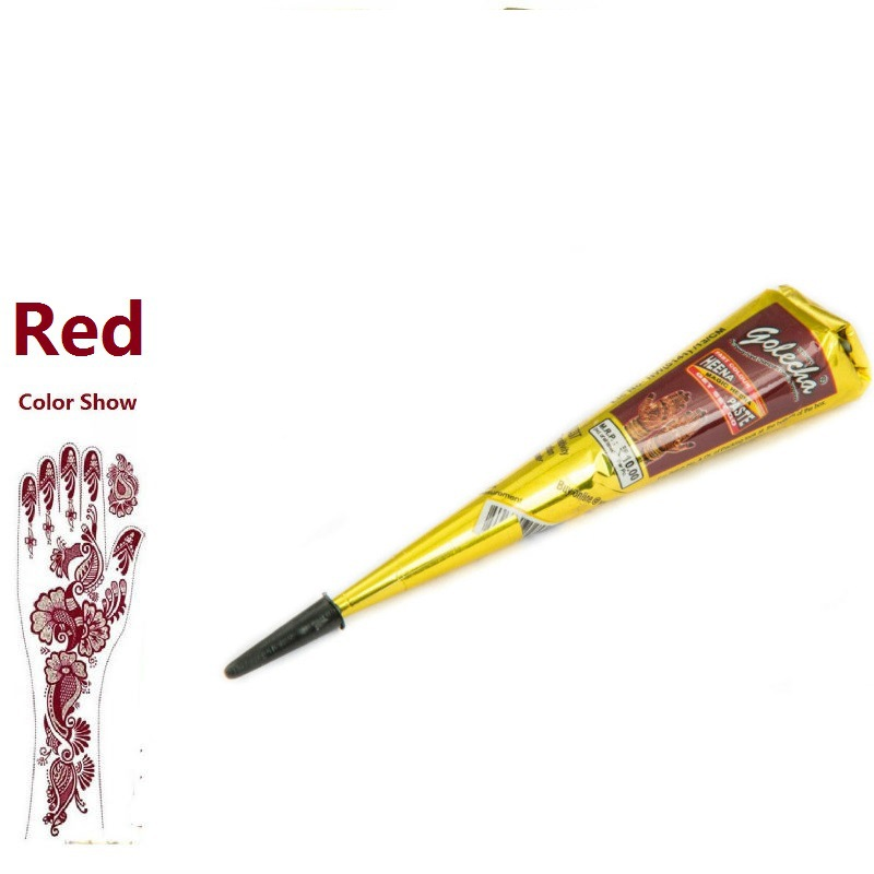 Red-brown Henna Tattoo Paste Face Painting Henna Body Paint Pigments Henna Tattoo Pen Indian Vegetable Henna Temporary Tattoo