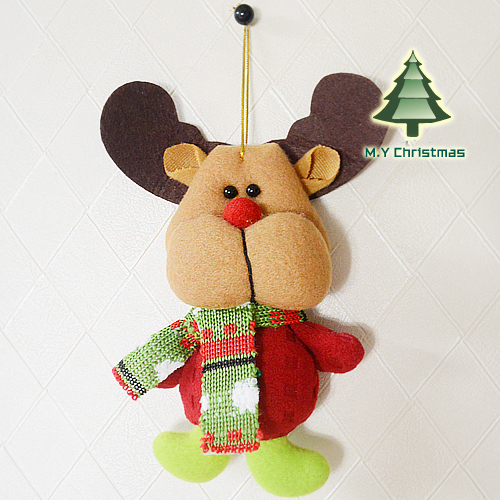 New arrival Christmas hanging  Decoration lovely Santa Claus Snowman Deer