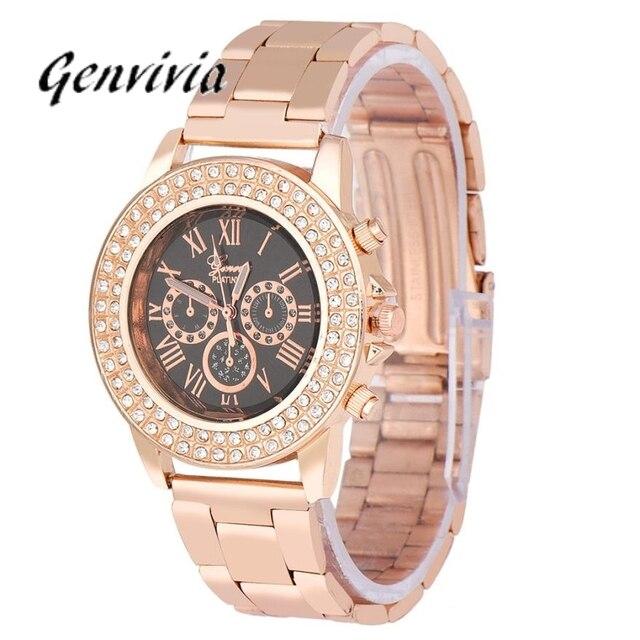 b8e3aede07b3 Smilelee 2019 New Fashion Designer Women Luxury Rose Gold Watch Women Brand  Watches Chain Women Dress Watch Quartz Ladies Watch